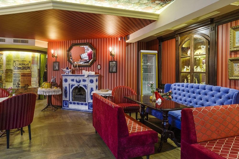 красный зал ресторан за двумя зайцами Киев