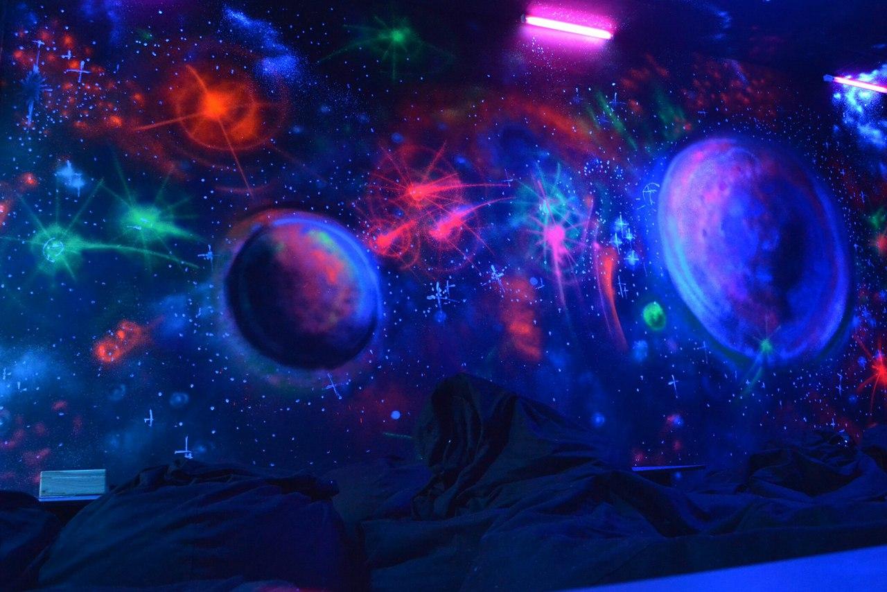 Хука Клуб космическое оформление