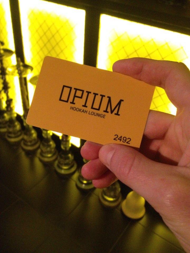 Клубная карта Opium