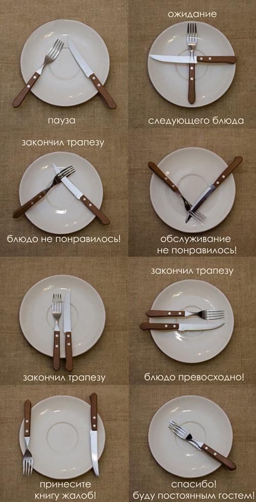 Язык столовых приборов